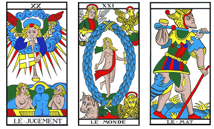 Tarot, Arcana XX, XXI, The Fool