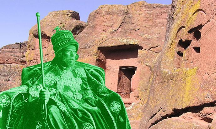 Ménélik roi d'Ethiopie
