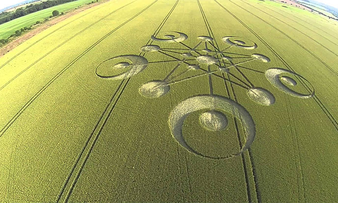 Crop circles du Wiltshire