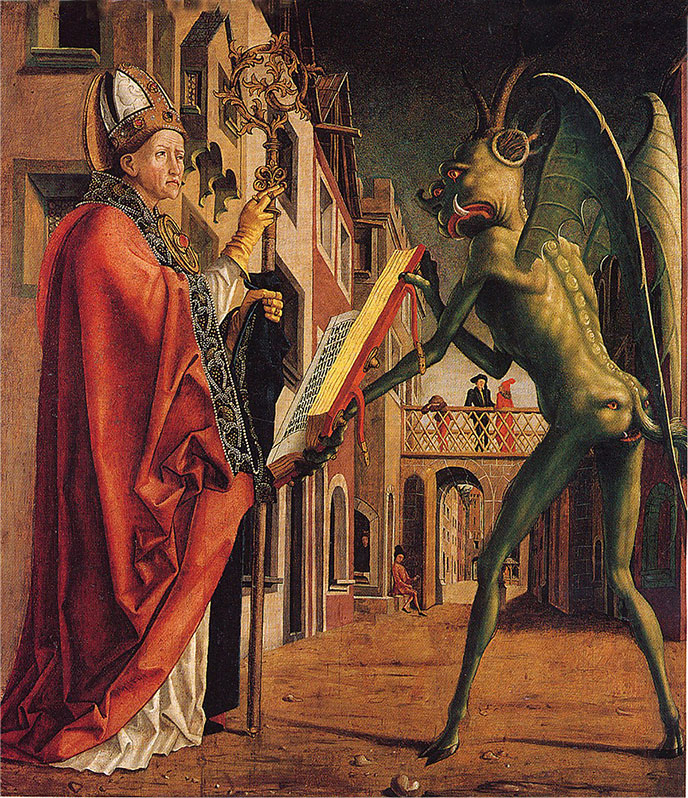 devil-Green-knight-Michael-Pacher-688px