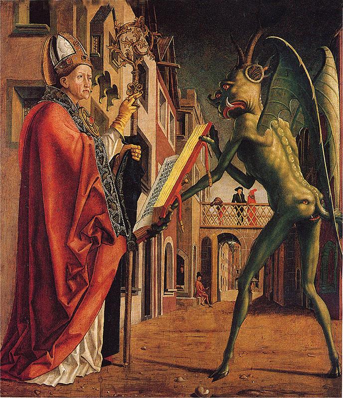 devil-Green-knight-Michael-Pacher-688px