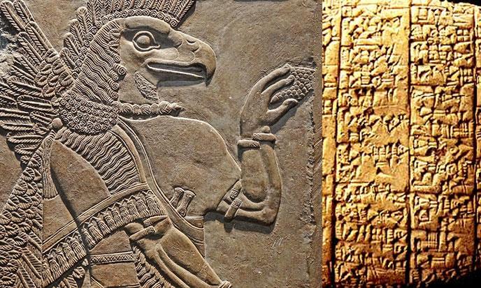 Tablettes d'argile assyriennes