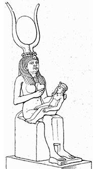 hathor-isis-petit-horus-200po