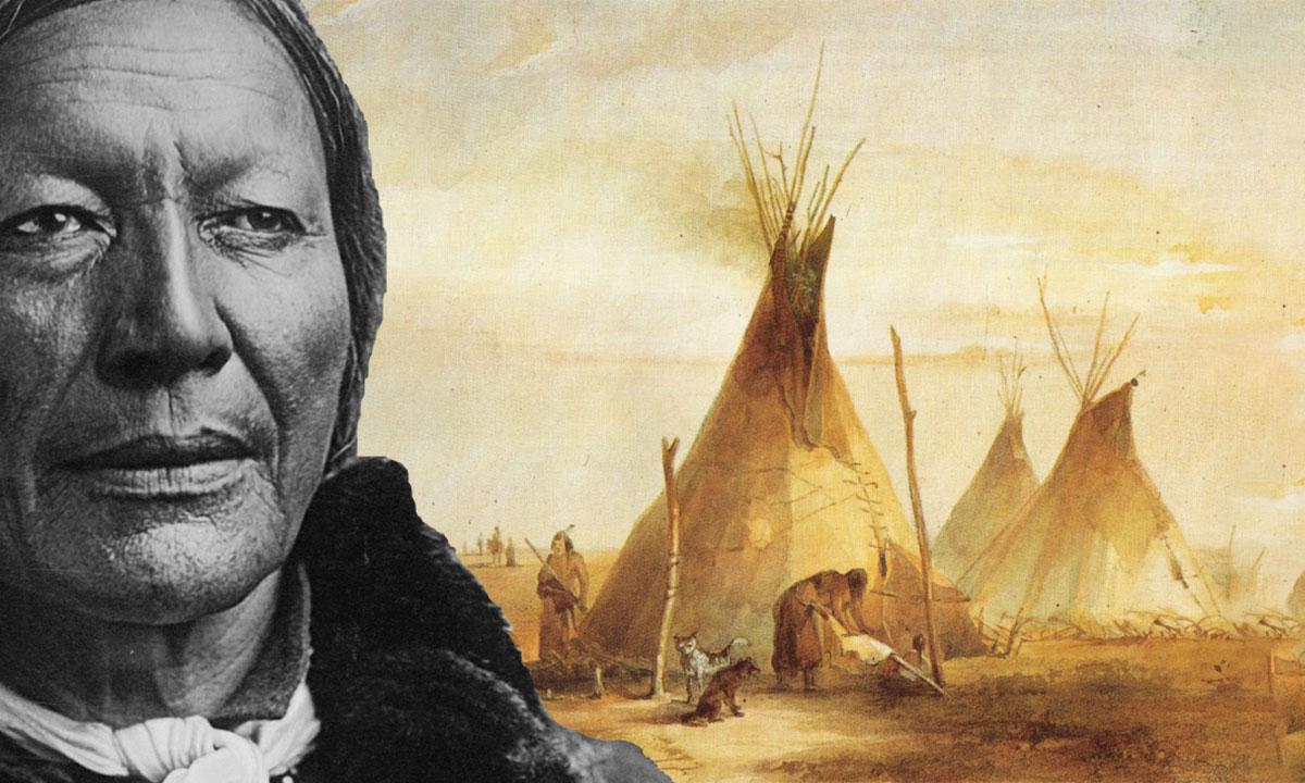 Wakan Tanka, par SKI Stef Kervor Infographie pour Eden Saga -- d'après : Sioux-Tipis, gemalt von Karl Bodmer, 1833 - Von Karl Bodmer - Karl Bodmer, Gemeinfrei, https://commons.wikimedia.org/w/index.php?curid=1357587